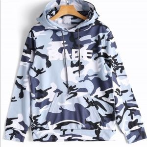 Blue Camouflage Hoodie